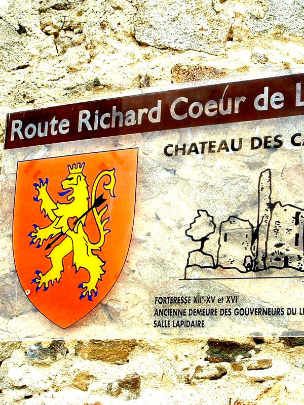 route de Richard coeur de Lion