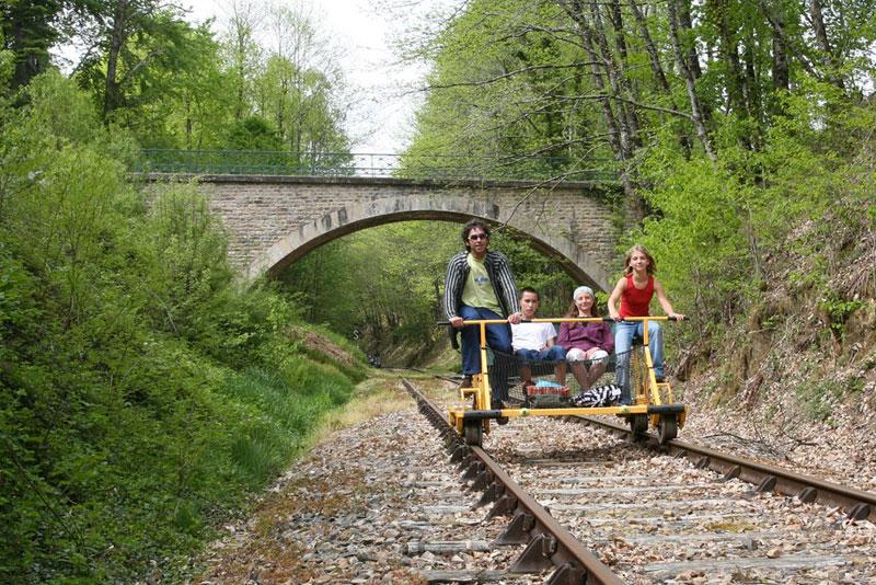 vélo rail de Bussière Galant
